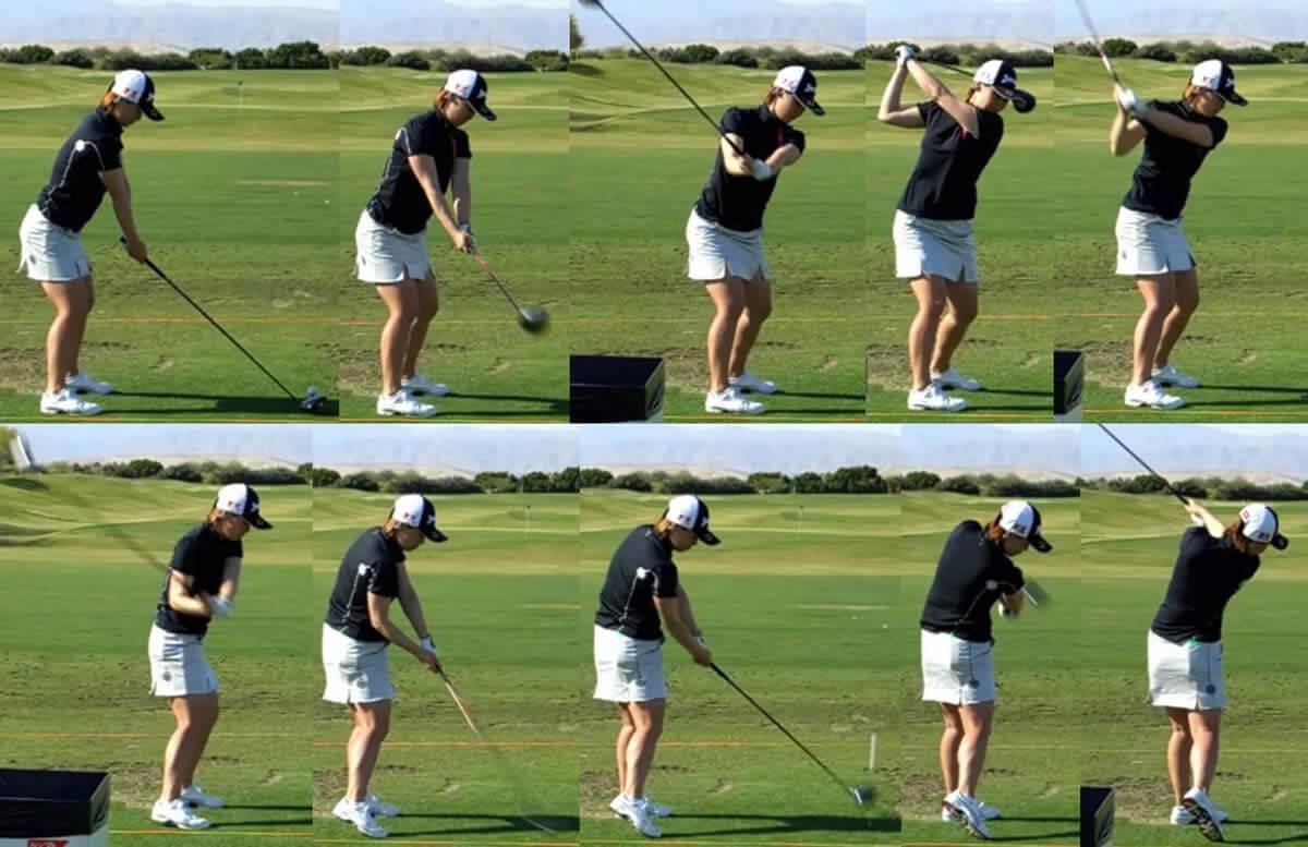 ゴルフのスイング後ろ